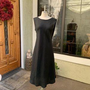 EILEEN FISCHER. Sleeveless linen midi dress. Sz L